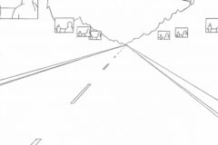 Road, pencil on paper, 11 x 8 1/2 inches
