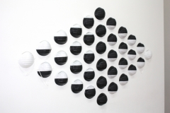 MEZ Safety Works, 2013, dust masks dipped in liquid synthetic rubber