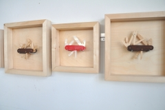 Installation View: The Gospel of Skills: Explorer in Wood, Spartan in Plexi, Angler in Wood