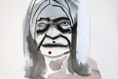 Zit, 2013, charcoal, watercolor and gesso