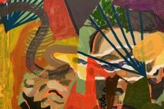 "Estefania Velez Rodriguez,  ""His Inheritance Thick Stained Hands"",  9 x 12,"" 2019"